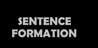 Sentence formation