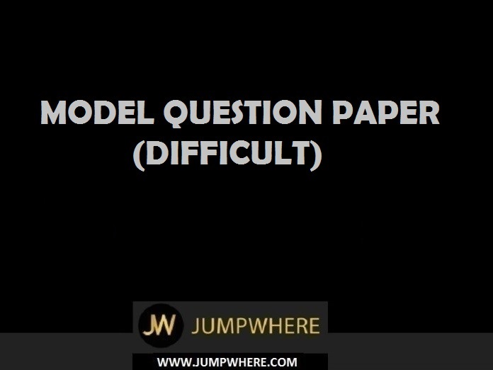 Aptitude Model Question Paper (Difficult - Level)