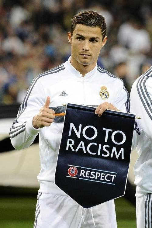 ronaldo no to racism jumpwhere