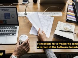 7 checklists for a fresher to consider a career at the Software Industry
