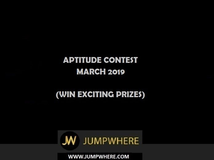 Aptitude Contest - March 2019