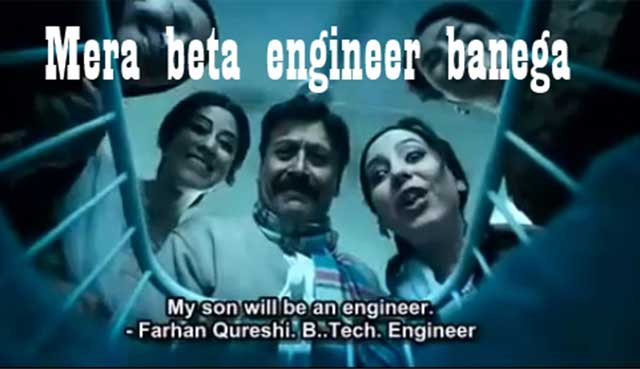 engineering due to family pressure