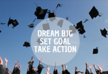 college graduate dream into action